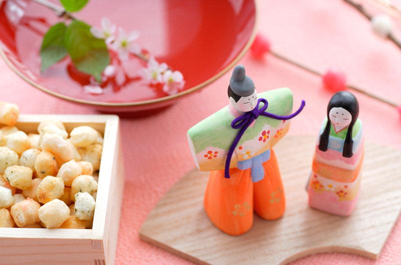 桃の節句に木のおもちゃ