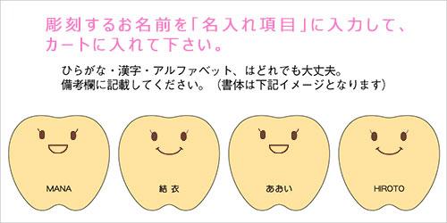 乳歯ケース ティースちゃん/名入れ例