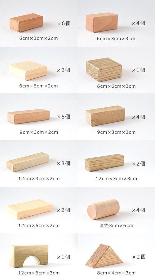 寄木の積木/ピース一覧