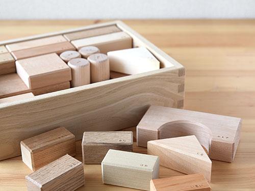 寄木の積木 (木箱)