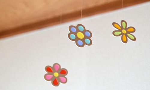 木製モビール・花 使用例2