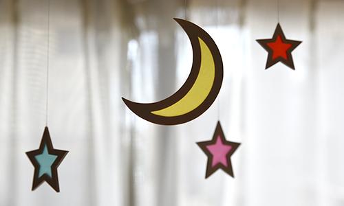 モビール 月と星 使用例1