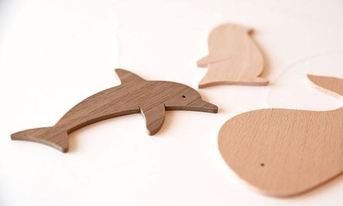 木製モビール・海のどうぶつ 使用例1