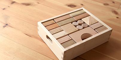 寄木の積木 (木箱)/OakVillage