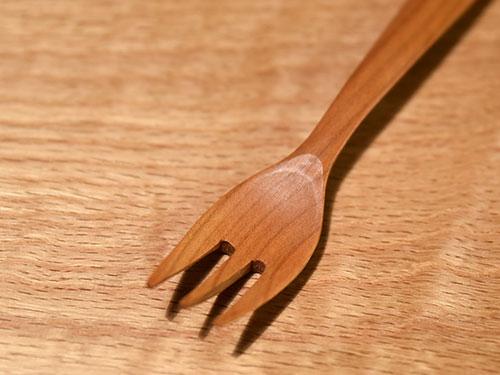 木のチャイルドフォーク/TANBANANBA 木の仕事