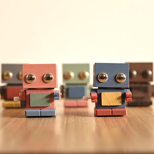 ゼンマイおもちゃ ブリ木ロボ/おもちゃのこまーむ