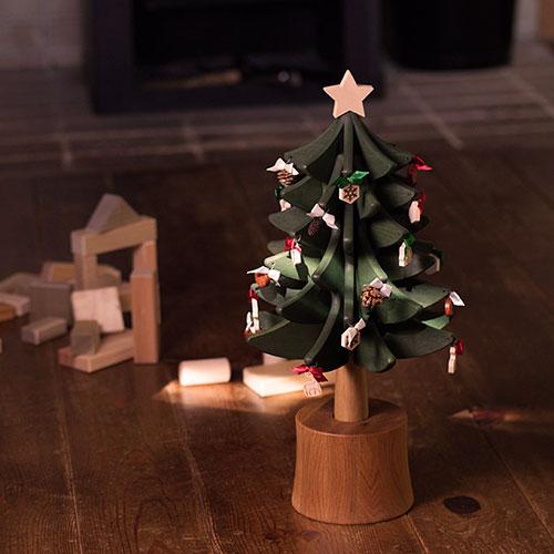 木製X'masツリー|オルゴールツリー・スタンダード/OakVillage
